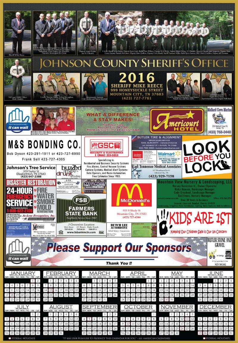 Law Enforcement Calendar Samples All American Calendars